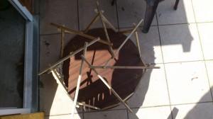 reciprocal frame mit sieben Sparren